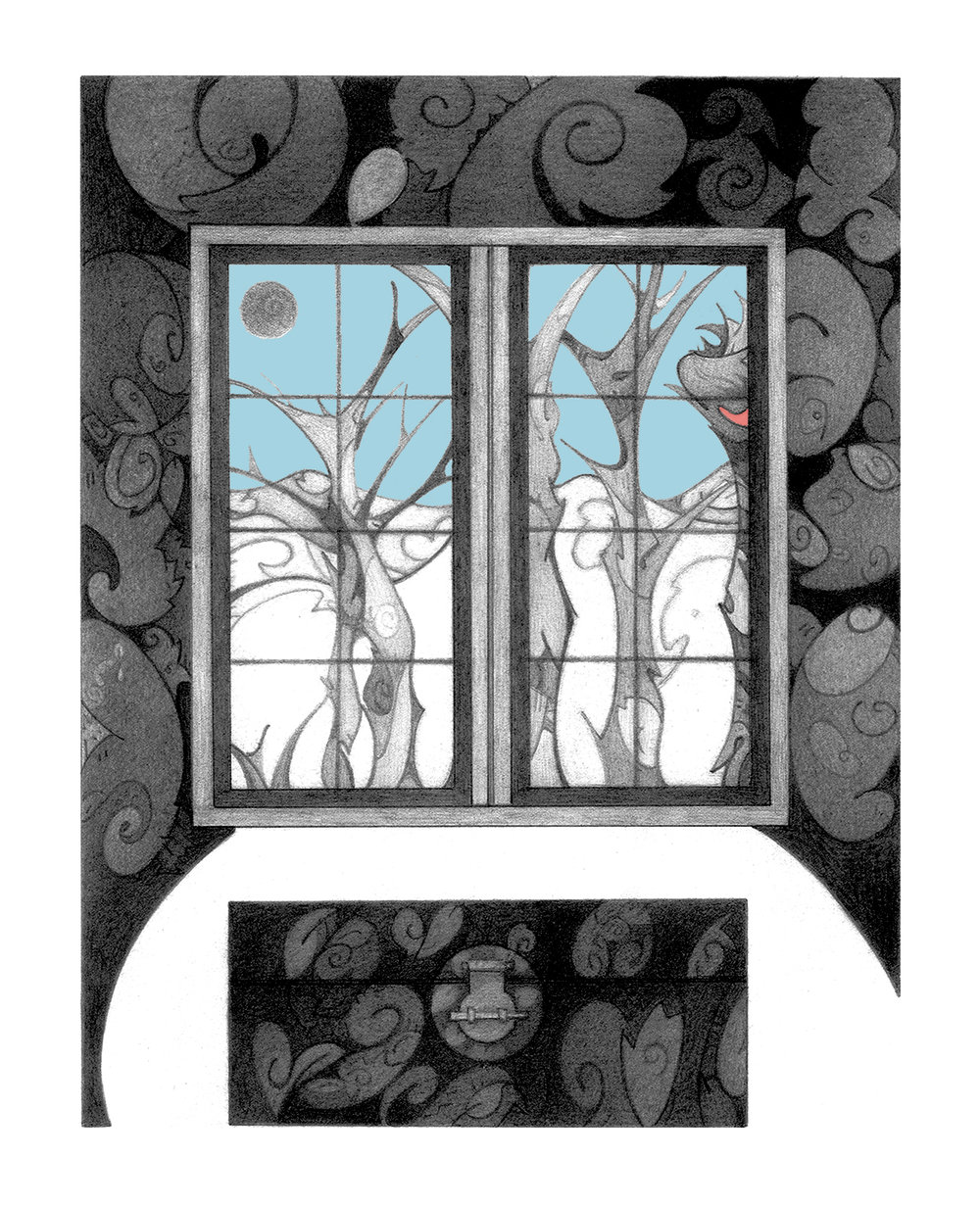 Outer Landscape, serigraph, printed at Modern Multiples,artwork & copyright by Kathleen Zimmerman