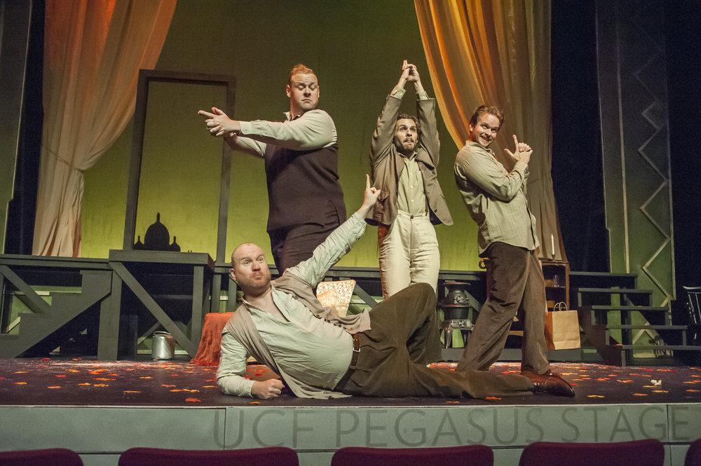 Ben Gulley as Rodolfo, Nathan Stark as Colline, Brian James Myer as Schaunard, Gabriel Preisser as Marcello.jpg