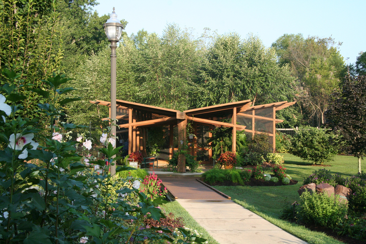 butterfly pavilion approach - Botanical Garden Of The Ozarks