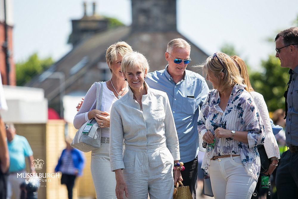 Judy Murray attends The Edinburgh Gin Scottish Sprint Cup - Musselburgh Racecourse - June 2018
