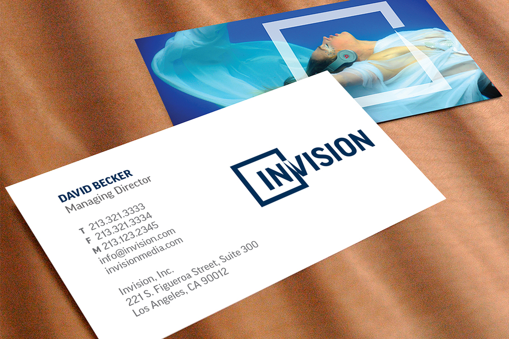 Associated Press Invision business card