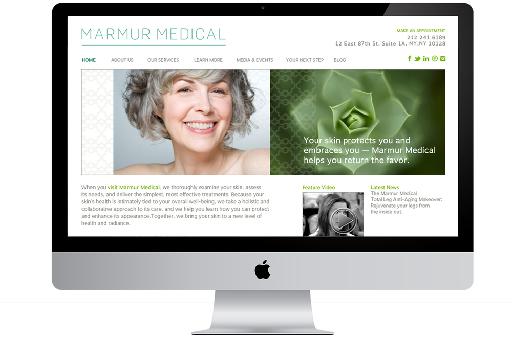 Marmur Medical website design