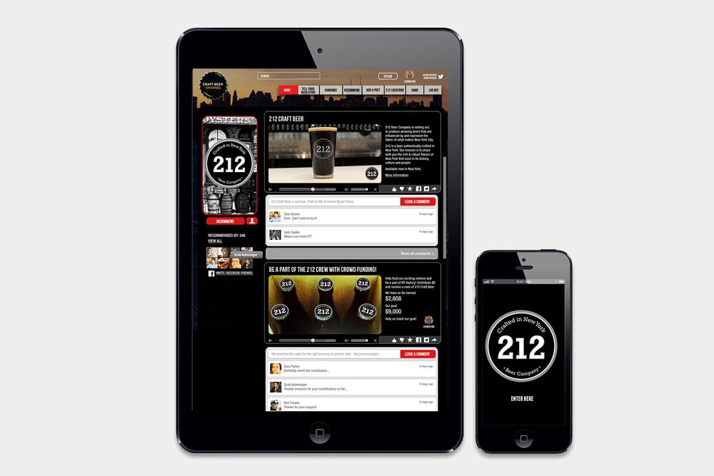 212 Brewing Company social media and website