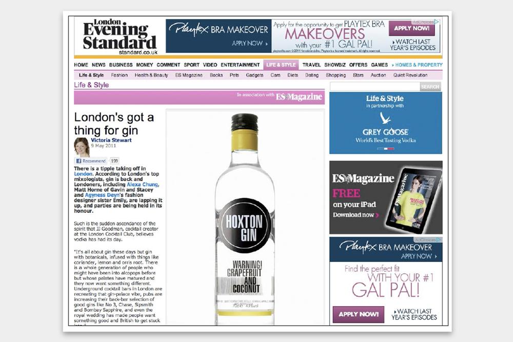 Hoxton Gin London Evening Standard