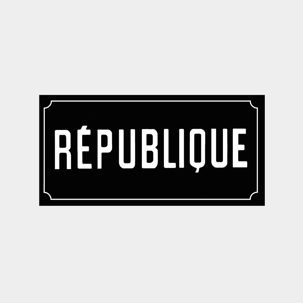 République restaurant brand identity