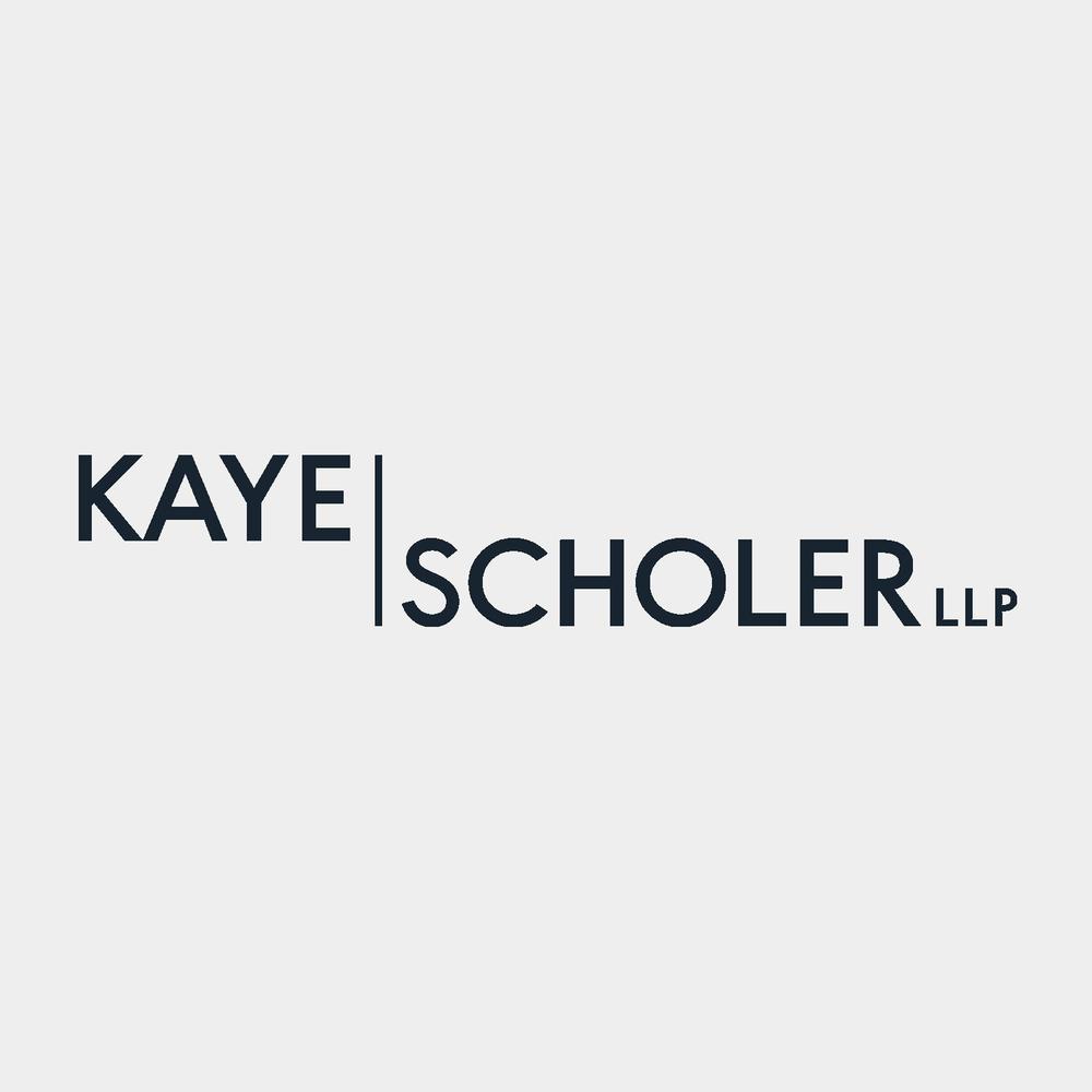 Kaye Scholer LLP brand identity