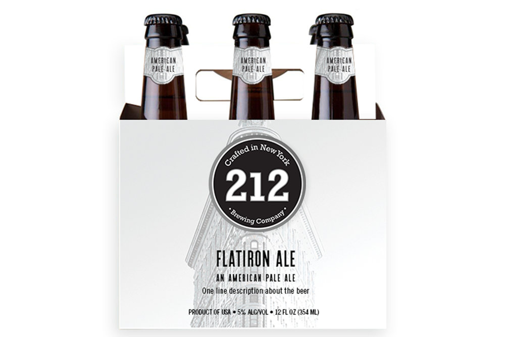 212 Brewing Company Flatiron Ale packaging