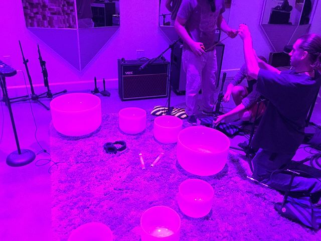 In the Studio recording the bowls, cd coming soon! #indigitalinstitute