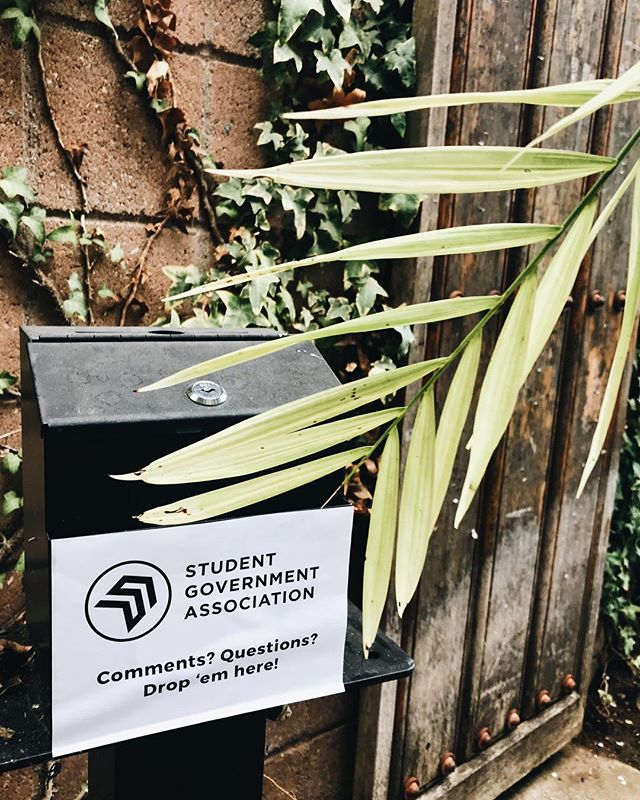Our Suggestion Box is restocked with slips! We love reading your responses on how to make our campus a better place.