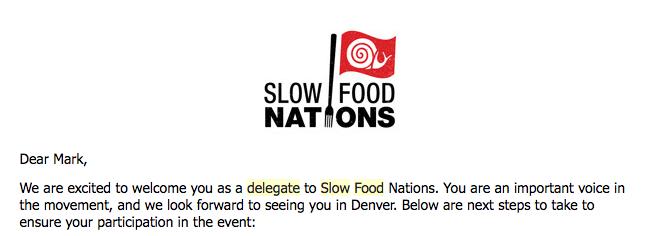 Slow Food Nations — Farmer Mark