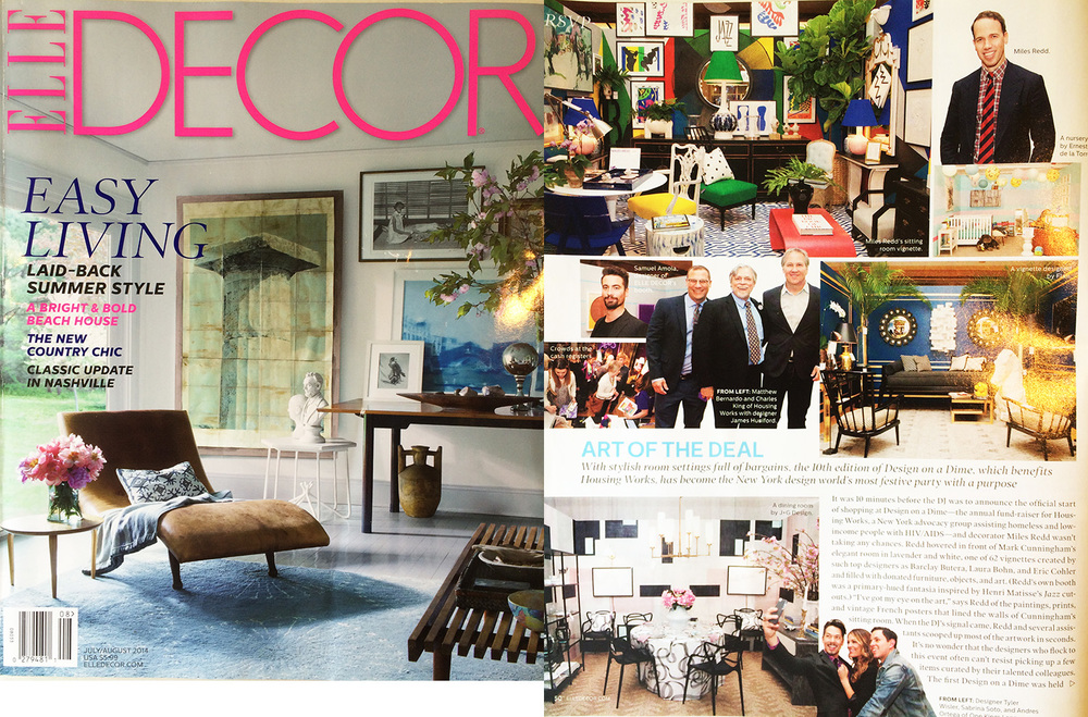 "ELLE DECOR, ""Art of the Deal,"" July 2014"