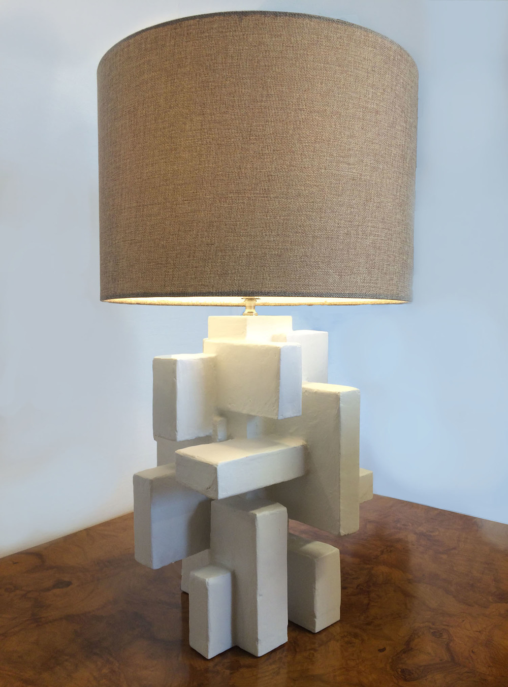 "ABITARE TABLE LAMP II, Mixed Media, 16"" X 10"" X 10"", 2012"