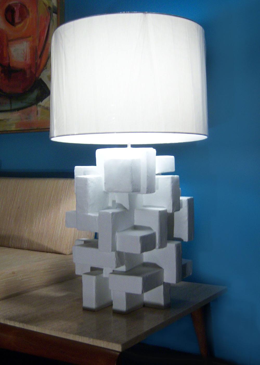 "ABITARE TABLE LAMP III, Mixed Media, 22"", 16"" x 16"", 2012"
