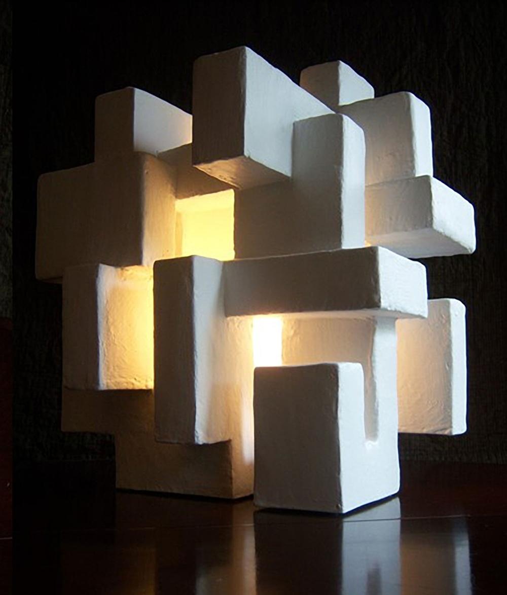 "ABITARE LIGHT SCULPTURE, Mixed Media, 16"" x 18"" x 13"", 2013"