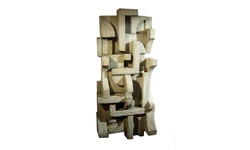 """CIUDAD, mixed media, 16"""" x 36"""" x 9"""", 2012"""