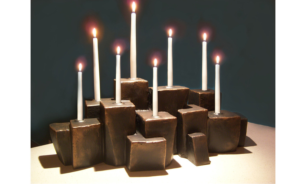 "ABITARE CANDLE HOLDER, mixed media, 21"" x 13"" x 12"", 2012"
