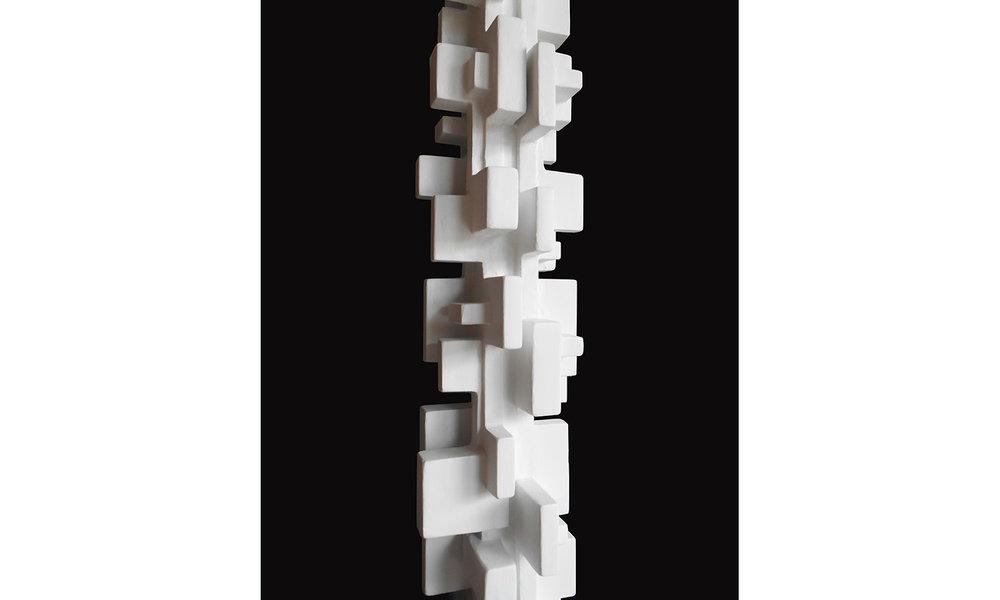 "BABEL FLOOR LAMP detail, 50"" tall, 2018"