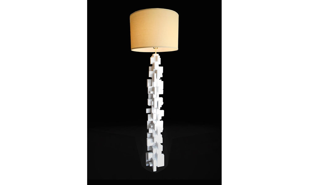 "BABEL FLOOR LAMP, 52"" tall, 2018"