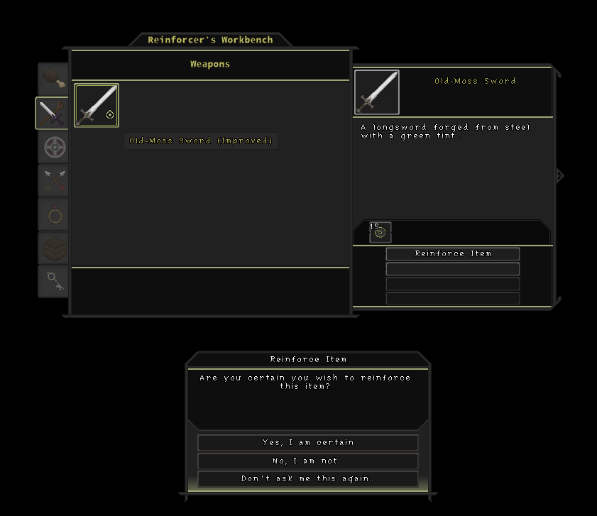 The Reinforcer's Workbench. Used to improving the controlled entity's items.