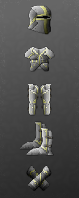 The Old Knight armor set.