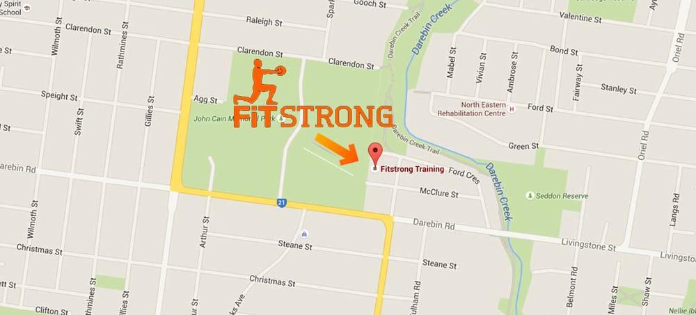 Thornbury gym directions on map