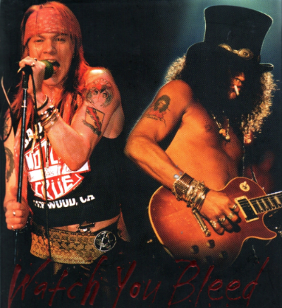 the famous duo Slash and Axl Rose