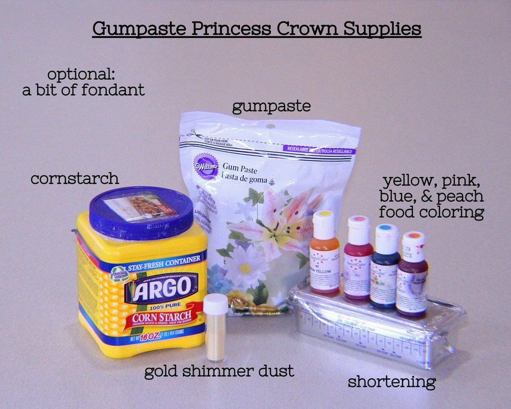 Homemade Gumpaste Princess Crown Topper -MIY with Melissa