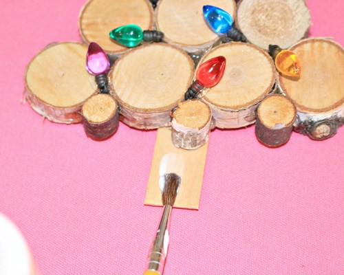 Homemade Sliced Birch Wood Christmas Tree Ornament Make