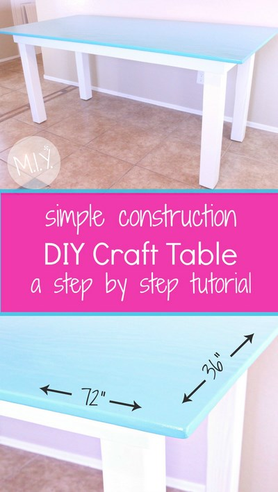 Easy Craft Table Tutorial -MIY with Melissa