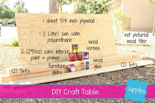 Easy DIY Craft Table Tutorial -MIY with Melissa