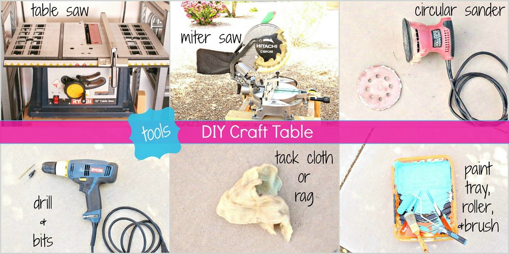 Easy DIY Craft Table Tutorial -MIY with Melissa