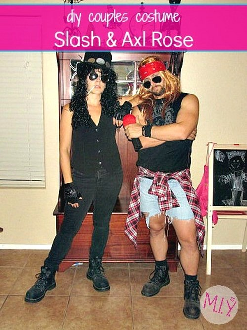 Adult Halloween Costumes: Axl Rose and Slash, Including a