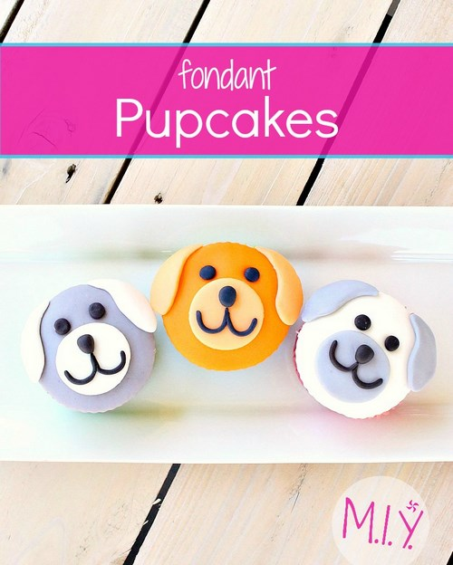 Fondant Puppy Cupcakes -MIY with Melissa
