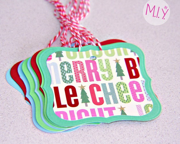 Easy Homemade Embossed Christmas Gift Tags- MIY with Melissa