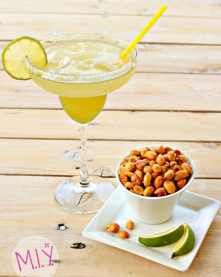 Homemade Sugar Free Margaritas Paired with Salted Lime Peanuts -MIY with Melissa