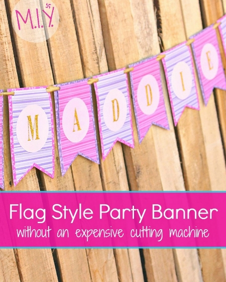 Flag Style Party Banner Tutorial -MIY with Melissa