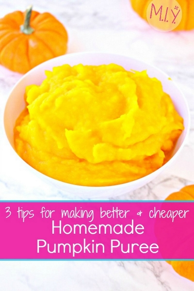 Recipe and Tips for Better Homemade Pumpkin Puree -MIY with Melissa