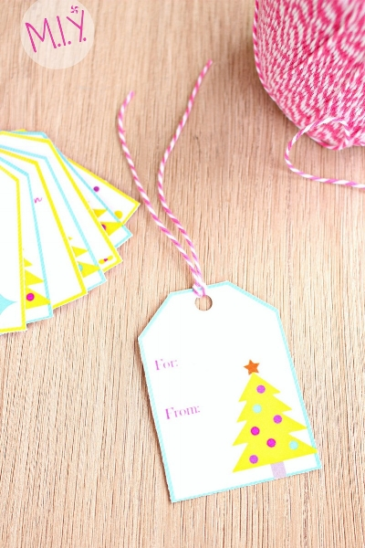 It's Gonna Be a Bright Christmas Free Printable Gift Tags -MIY with Melissa