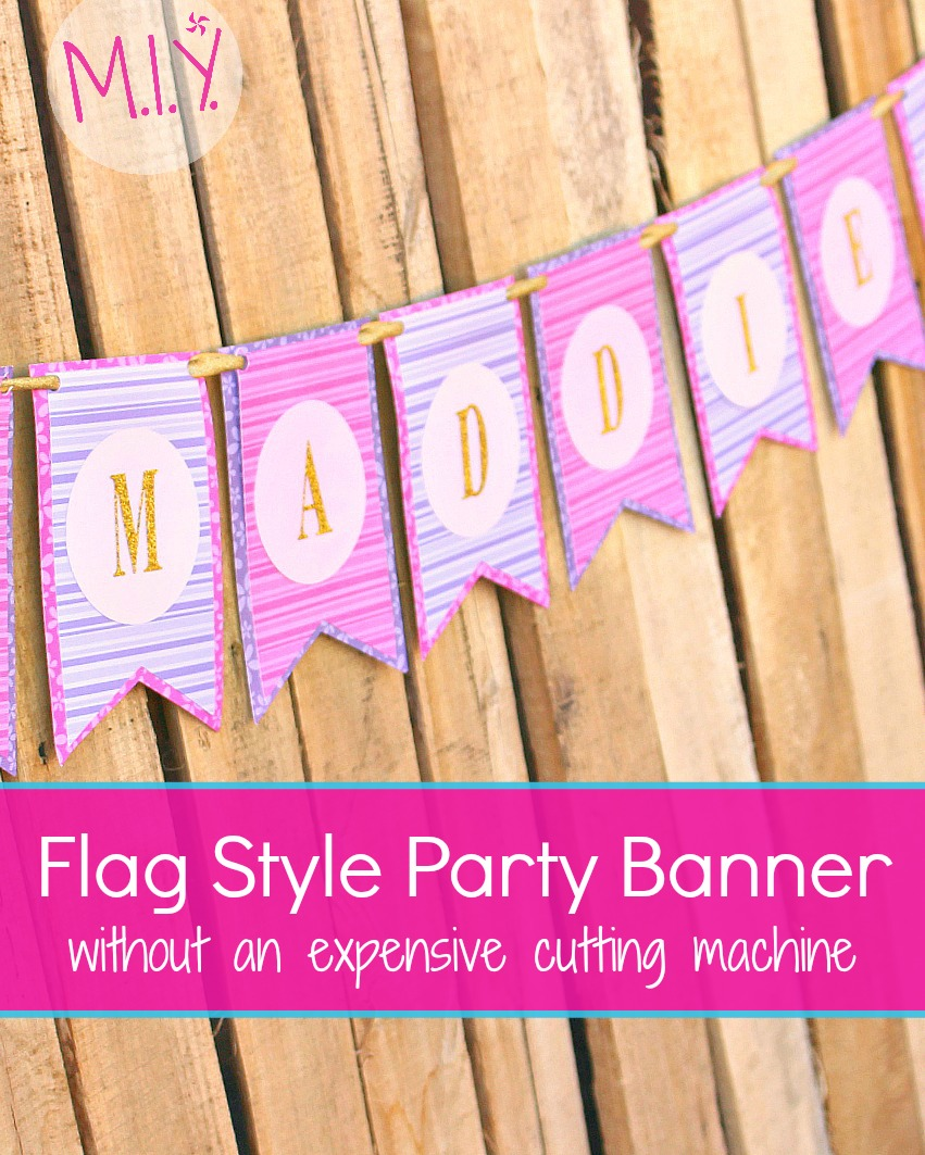 Flag Style Party Banner Make It Yours With Melissa