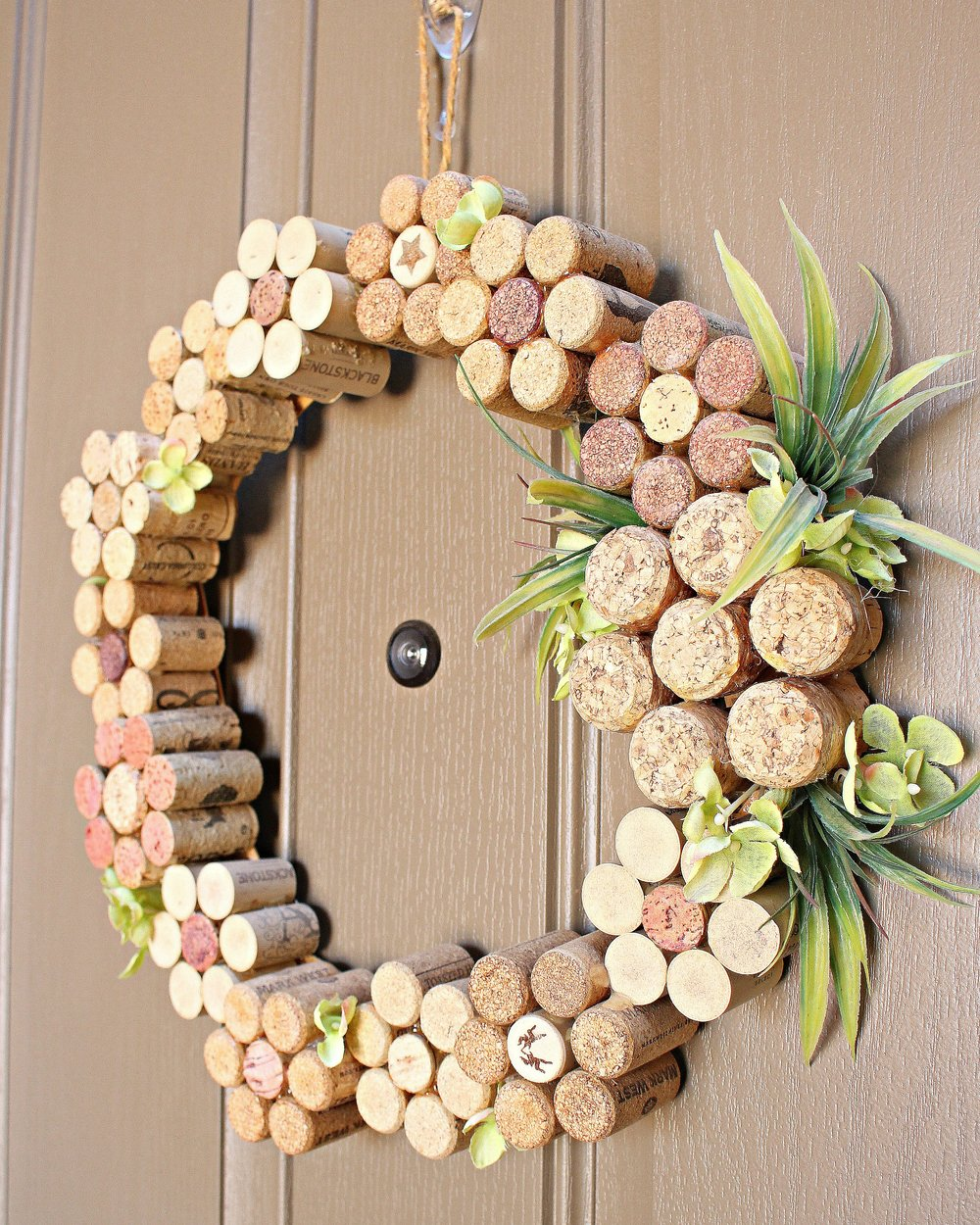 Wine Cork Flower Wreath Tutorial