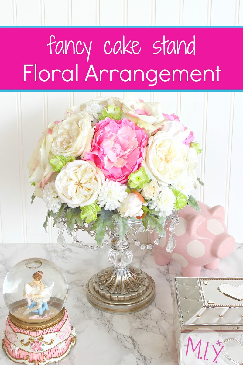 Fancy Cake Stand Floral Arrangement Tutorial -MIY with Melis