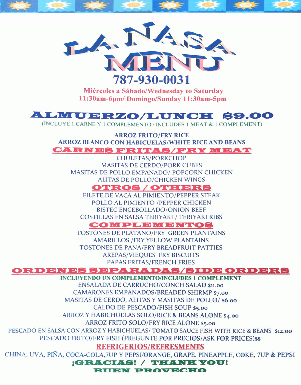 astronaut menu - photo #28