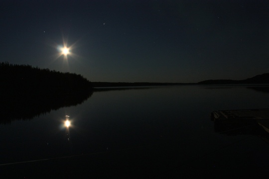 Full Moon over Thicketwood Lake