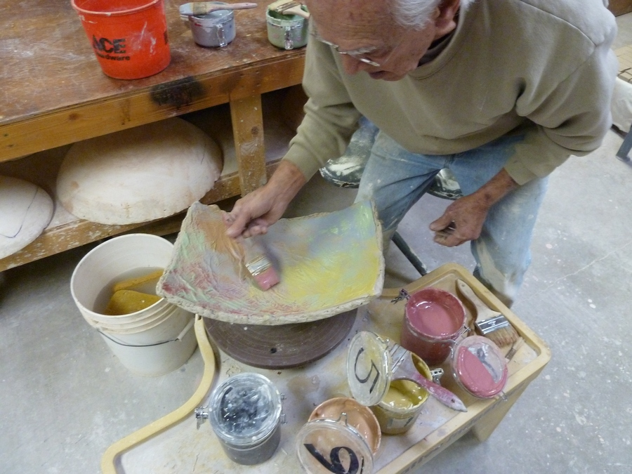 Don painting with slips