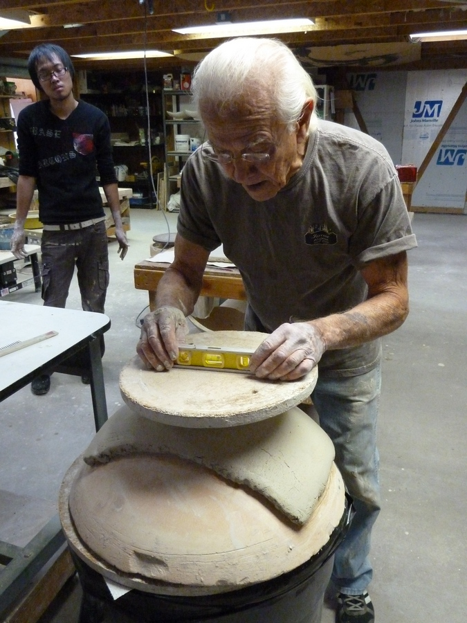 Don Reitz Leveling his slab platter