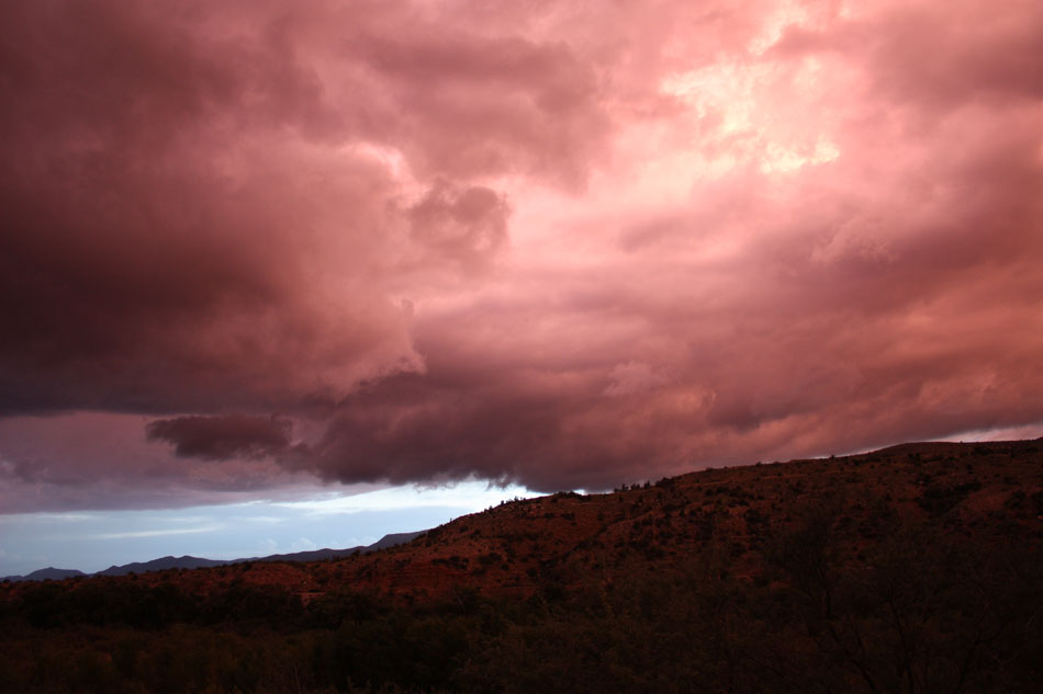Red Clouds over Sycamore Canyon wall
