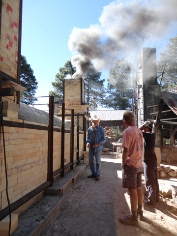 Firing of NAU Switchback Kiln