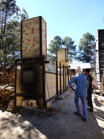 NAU Switchback Kiln Firing 2011