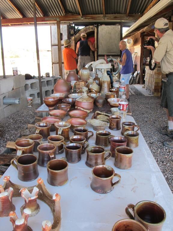 Unloading the kiln
