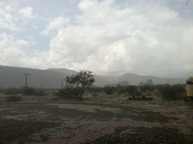 Rains over the ranch